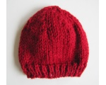 "KSS Dark Red Ribbed Winter Beanie 12-13"" (3 Months) KSS-HA-577"