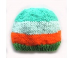 "KSS Aqua/Orange/Green Winter Beanie 13"" (3 Months) KSS-HA-583"