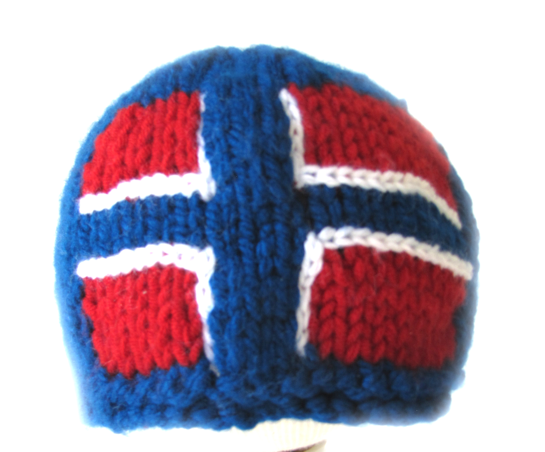 "KSS Blue Beanie with a Norwegian Flag 16"" (12 Months) HA-687"