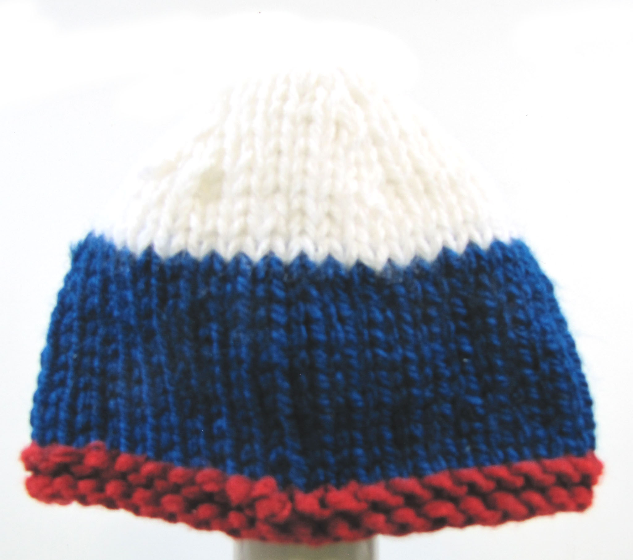 "KSS Red/White & Blue Beanie 15"" (6-24 Months) HA-691"