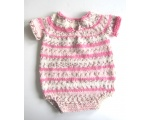 KSS Soft Ecru/Pink Colored Onesie 6 Months KSS-ON-026-ET