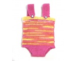KSS Hot Pink/Yellow Short Cotton Romper (12 - 18 Months) KSS-PA-059