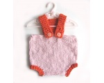 KSS Short Pants in Pink/Orange with straps (0 - 6 Months) KSS-PA-063