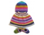 KSS Multicolored Baby Poncho, Booties and Hat (3 Months) KSS-PO-008-EBK