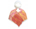KSS Multicolored Fire Baby Poncho and Hat (6 Months) KSS-PO-010-EBK