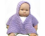 KSS Lilac Hooded Kids Poncho 0 - 6 Years KSS-PO-013-EB