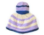 KSS Blue/Lilac Colored Kids Poncho 0 - 4 Years KSS-PO-018-AZH