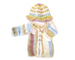 KSS Pastel Sweater/Tunic and Hat Newborn - 3 Months