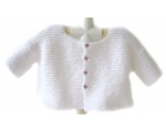 KSS White Knitted Sweater/Jacket (2 Years/3T)