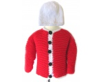 KSS Bright Red Toddler Sweater/Cardigan (3-4 Years)