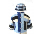 KSS Abstract Blue Knitted Sweater/Jacket 2 Years