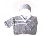 KSS Soft Grey & White Pullover Sweater (3-4 Years)