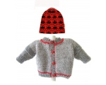 KSS Grey Knitted Sweater/Jacket 2 Years SW-393