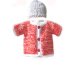 KSS Red/White Cotton/Acrylic Sweater (12 Months) KSS-SW-582-HA-352-EB