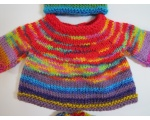 KSS Colorful Pullover Sweater with a Hat (6 Months)