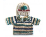 KSS Car Pullover Baby Sweater with a Hat (6 Months) KSS-SW-611-ET