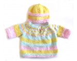 KSS Pastel Pullover Sweater with a Hat (12 Months) KSS-SW-612-EB