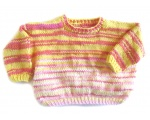 KSS YellowPink Knitted Cotton Pullover Sweater (4-5 Years)