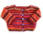 KSS Sunset Colored Striped Sweater/Cardigan 2 Years/3T