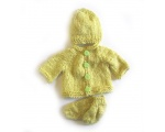 KSS Lime Colored Acrylic Soft Sweater/Jacket Set (Newborn)