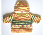 KSS Persimmon Striped Pullover Sweater with a Hat (12 Months)