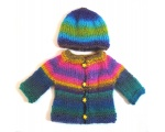 KSS Colorful Sweater/Cardigan with a Hat (3 Months)