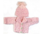 KSS Heavy Pink Sweater/Jacket with a Hat (3 Months)