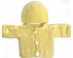 KSS Yellow Cardigan and Hat 3 Months