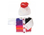 KSS Bold Sweater/Cardigan with a Hat Newborn - 3 Months KSS-SW-638-AZ
