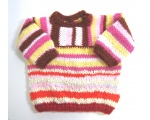KSS Multi Colored Pinkish Striped Soft Pullover Sweater 2T KSS-SW-648