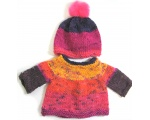 KSS Colorful Pullover Sweater with a Pom Pom Hat (9 Months) KSS-SW-651-EB