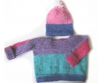 KSS Pink/Grey Sweater/Jacket with a Hat 12 Months