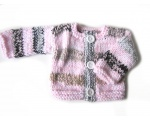 KSS Heavy Pink/Grey Baby Sweater/Jacket (6 Months)