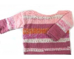 KSS Heavy Pinkish Colored Striped Toddler Pullover Sweater 2T KSS-SW-680-EB