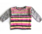KSS Pink Grey Sky Kids Pullover Sweater (4 Years) KSS-SW-684-EB
