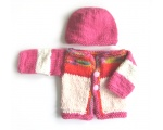 KSS Soft Sweater/Cardigan with a Hat Newborn - 3 Months