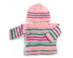 KSS Pastel Heavy Pullover Sweater with a Hat (12 Months)