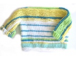 KSS Striped Soft Yellow/White Toddler Sweater (18 Months)