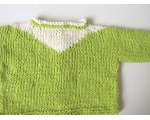 KSS Lime Green Knitted Cotton Sweater/Jacket (18 Months)