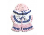 KSS Pink Sweater/Jacket and Hat (3 Months)