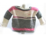 KSS Grey/Pink Colored Pullover Sweater 2T KSS-SW-723-ET