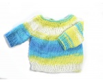 KSS Yellow/Aqua/White Pullover Sweater (3 Months) KSS-SW-724