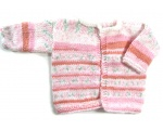 KSS Pink/White Sweater Cardigan size 2T