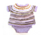 KSS Lilac Striped Cotton Sweater and Panties Size 2T KSS-SW-732-AZH