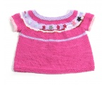KSS Cotton Dark Pink Short Sleeve Toddler Sweater Vest (1 Year) SW-745 KSS-SW-745-EB