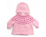 KSS Pink Soft Pullover Sweater with a Hat (6 Months) KSS-SW-746-ET