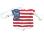 KSS Pullover Sweater with American Flag (12 Months)