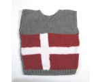 KSS Grey Danish Flag Sweater Vest (2 Years) KSS-SW-749-ET