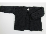 KSS Heavy Black Sweater/Cardigan (4-5 Years)