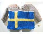 KSS Beige Pullover Swedish Flag Sweater (3-4 Years)